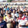 Peringati Hari Jadinya Bhayangkara ke-73, PolRes Mesuji Olah Raga Bersama Forkopimda