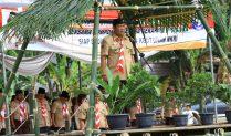 Rayakan HUT Pramuka Ke 58 KwarCab TuBa Kemah Bhakti Didente Teladas