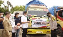 Pelepasan Logistik Pilkada Serentak Kepala Daerah Kabupaten Way Kanan Tahun 2020, Berjalan Lancar
