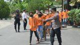 Satresnarkoba Polres Tulang Bawang Tangkap 105 Orang Tersangka, Diantaranya Dua Orang PNS dan Tiga Orang Pelajar