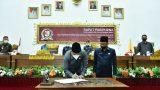 DPRD TuBaBa Gelar Rapat Paripurna Penandatanganan Nota Kesepakatan (MoU) KUA-PPAS APBD Tahun Anggaran 2022