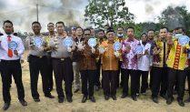 Kunjungi Mesuji, Kapolda Lampung Musnahkan Ganja dan Tebar Benih Ikan